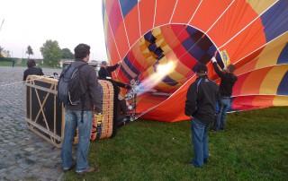 Ballonfahrten Dresden | Füllen mit heißer Luft
